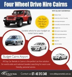 Four Wheel Drive Hire Cairns | 1800707000 | alldaycarrentals.com.au