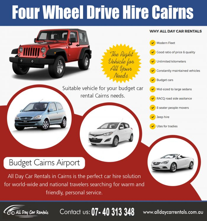 Four Wheel Drive Hire Cairns | 1800707000 | alldaycarrentals.com.au