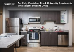 Get Fully-Furnished Brock University Apartments with Regent Student Living