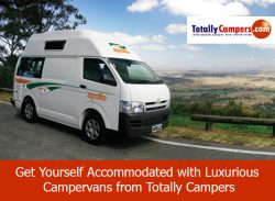 Get Yourself Accommodated with Luxurious Campervans from Totally Campers