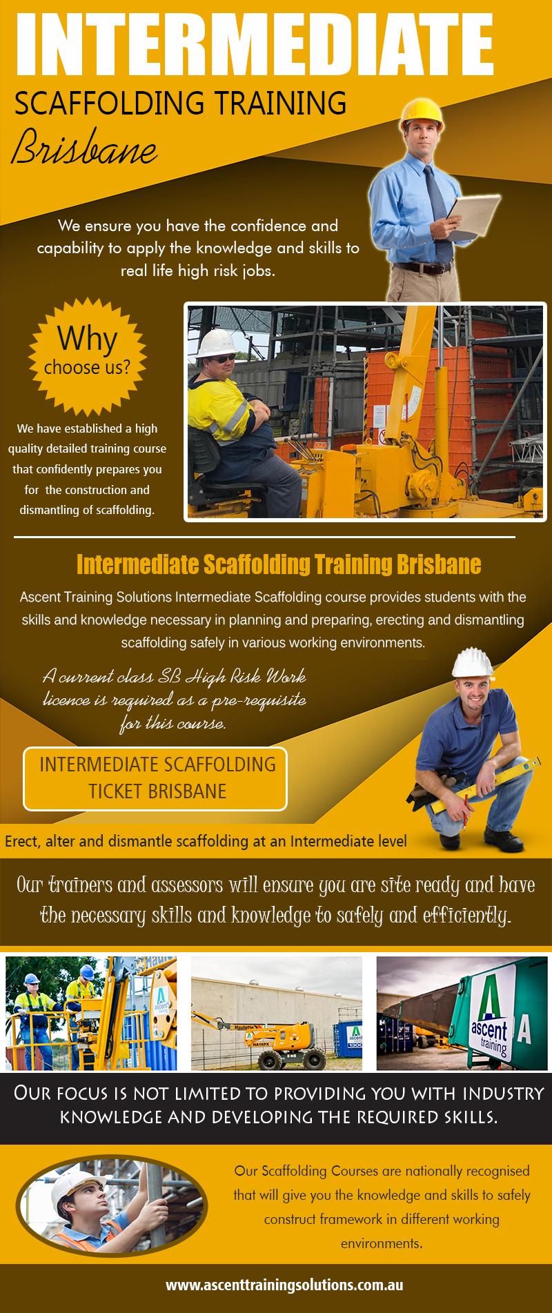 Intermediate Scaffolding Training Brisbane