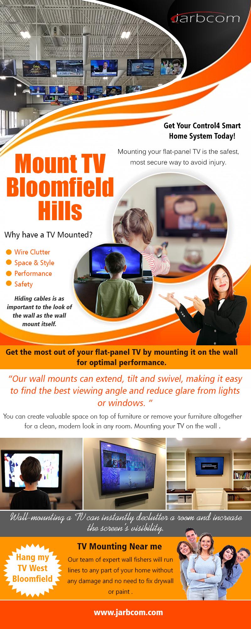 Mount TV Bloomfield Hills   Call – 1-800-369-0374   jarbcom.com