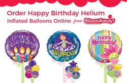 Order Happy Birthday Helium Inflated Balloons Online from BloonAway