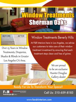 Window treatments Sherman Oaks