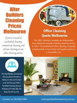 After Builders Cleaning Prices Melbourne