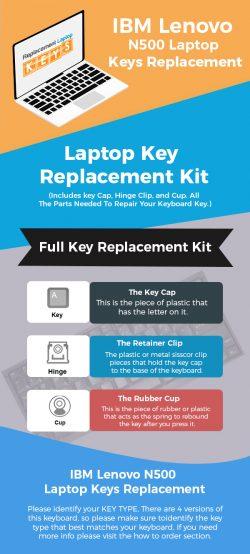 Buy Genuine IBM Lenovo N500 Laptop Keys Online From Replacement Laptop Keys