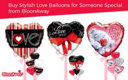 Buy Stylish Love Balloons for Someone Special from BloonAway
