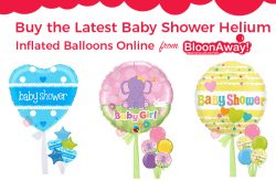 Buy the Latest Baby Shower Helium Inflated Balloons Online from BloonAway