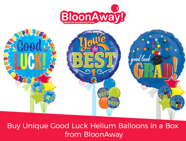 Buy Unique Good Luck Helium Balloons in a Box from BloonAway