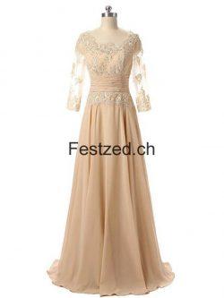 Champagner Lang Spitze Brautmutterkleider – Festzed.CH