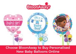 Choose BloonAway to Buy Personalised New Baby Balloons Online