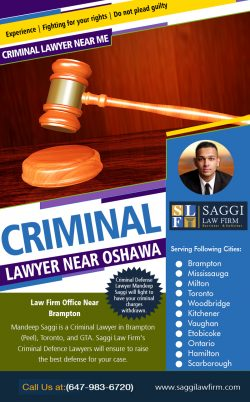 Criminal Lawyer Near Oshawa | Call – 1-647-983-6720 | saggilawfirm.com