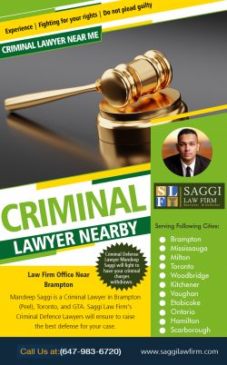 Criminal Lawyer Nearby | Call – 1-647-983-6720 | saggilawfirm.com