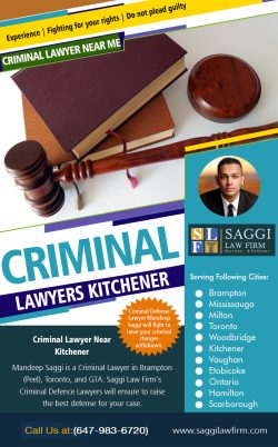 Criminal Lawyers Kitchener | Call – 1-647-983-6720 | saggilawfirm.com