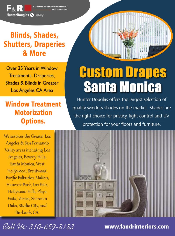 Custom drapes Santa Monica   3106598183   fandrinteriors.com