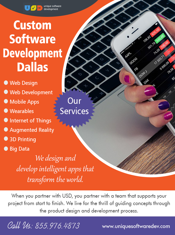 Custom Software Development Dallas | Call – 855-976-4873 | uniquesoftwaredev.com