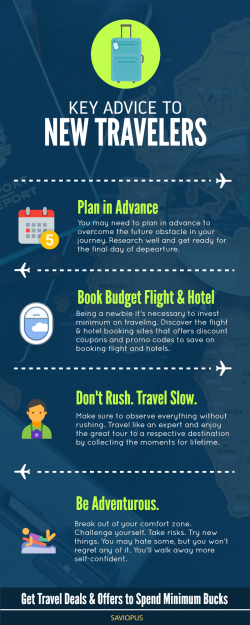 Key Advice to New Travelers 2019- Infographic