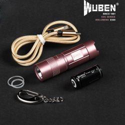 WUBEN E345 300 Lumens EDC lampe torche rose