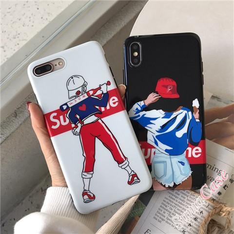 iPhone8ケース シュプリーム アイフォン7プラスカバー ソフト パロディ風 SUPREME iphone8plus ケース  ...