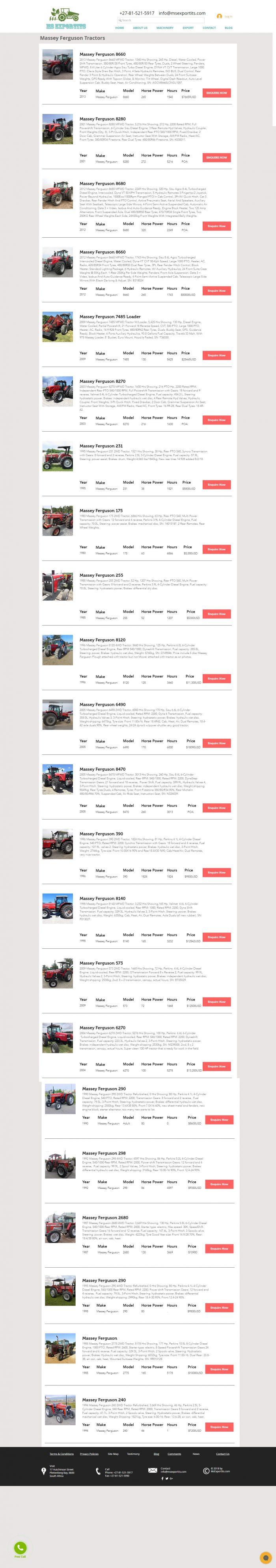 Massey ferguson 175 tractor for sale