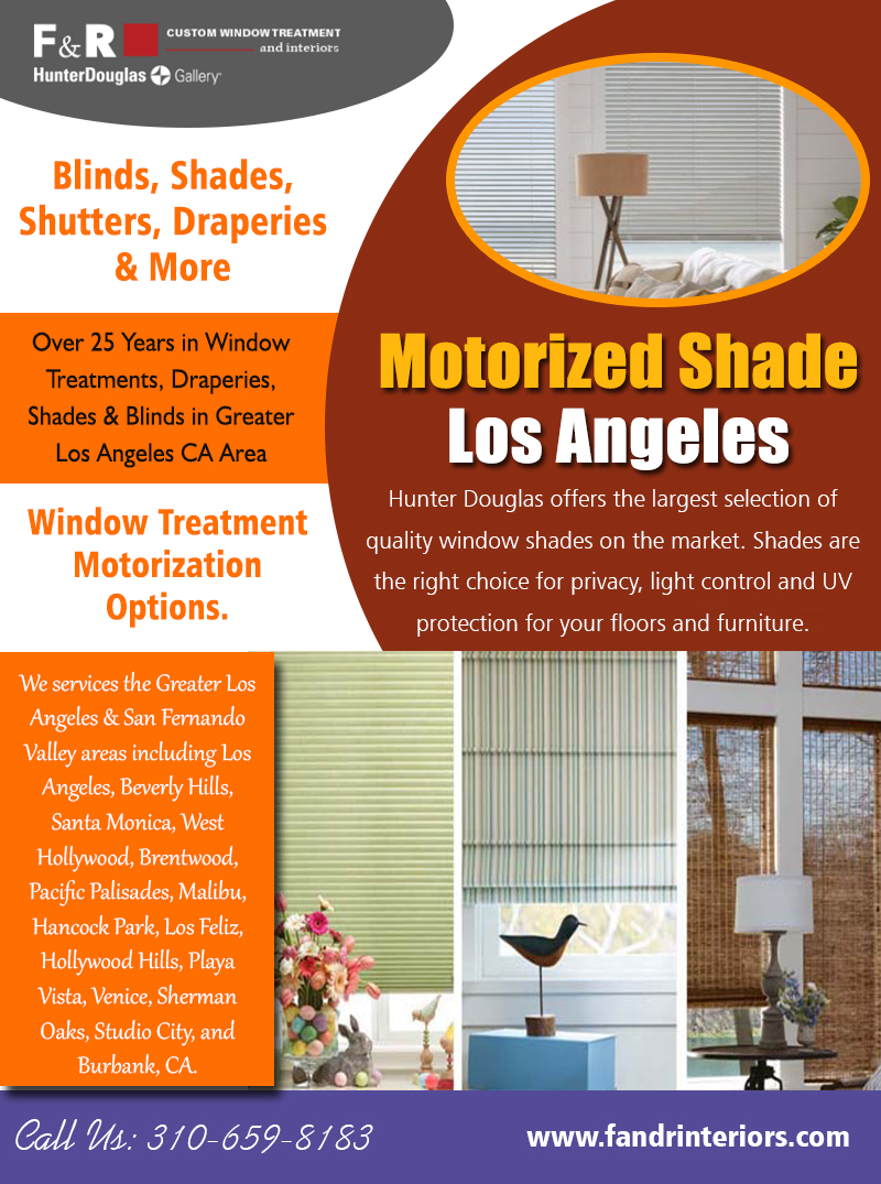 Motorized shade Los Angeles | 3106598183 | fandrinteriors.com