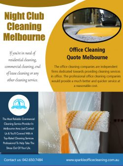 Night Club Cleaning Melbourne