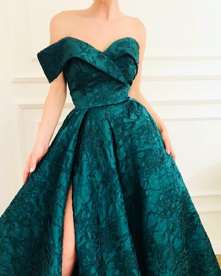 Chic Abendkleider Lang Günstig Kaufen | Grünes Abendkleid