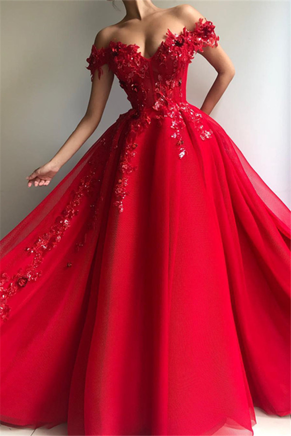 Elegante Abiballkleider Lang Günstig | Rote Abendkleider Online