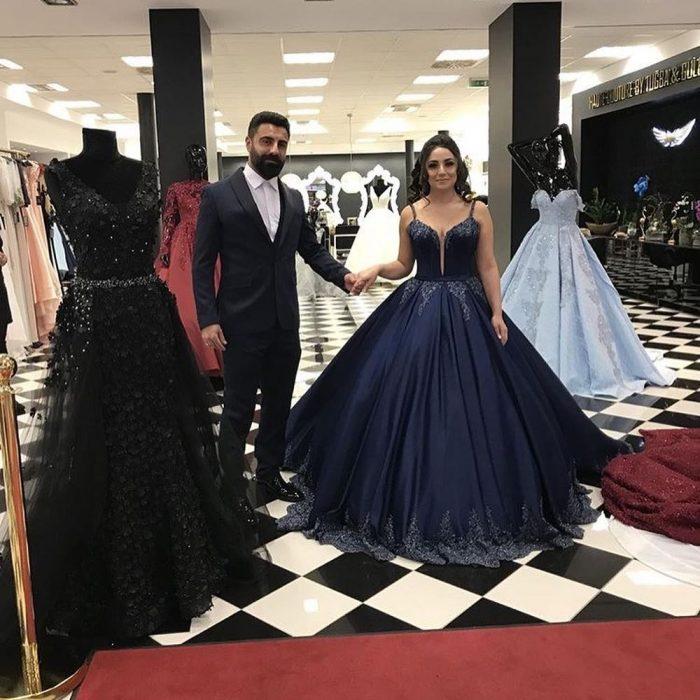 Navy Blau Abendkleider Lang Günstig | Abendmoden Online Kaufen
