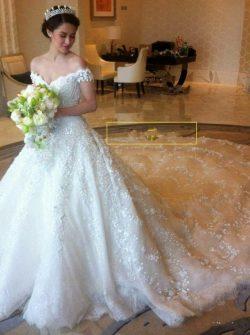 Luxus Hochzeitskleider Spitze | A Linie Brautkleid Mit Ärmel