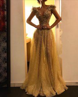Abendkleid Gold | Spitze Abendkleider Lang Günstig
