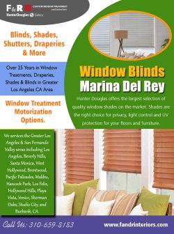 Window blinds Marina Del Rey | 3106598183 | fandrinteriors.com