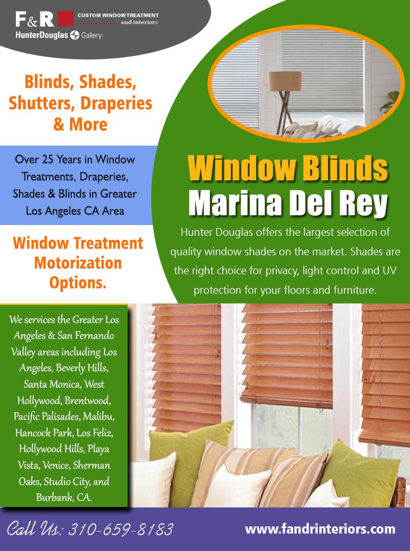 Window blinds Marina Del Rey | 3106598183 | fandrinteriors.com