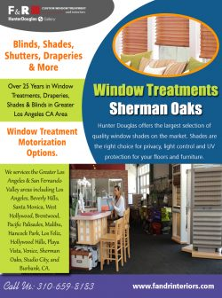 Window Treatments Sherman Oaks | 3106598183 | fandrinteriors.com