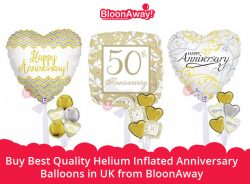 Buy Best Quality Helium Inflated Anniversary Balloons in UK from BloonAway
