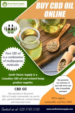 Buy CBD Oil Online | Call – 416-922-7238 | earthchoicesupply.com
