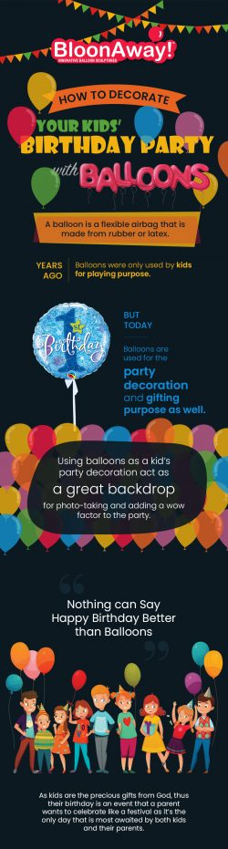How to Decorate Your Kids' Birthday Party with Balloons