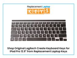 Shop Original Logitech Create Keyboard Keys for iPad Pro 12.9″ from Replacement Laptop Keys