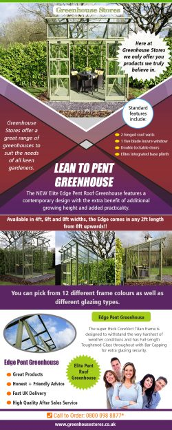 Lean to Pent Greenhouse