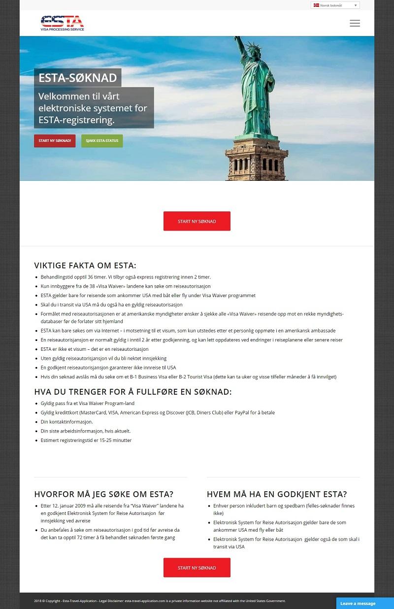 Visum til USA fra Norge