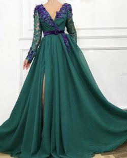 Elegante Abendkleider Mit Ärmel | Abendmoden Mit Spitze