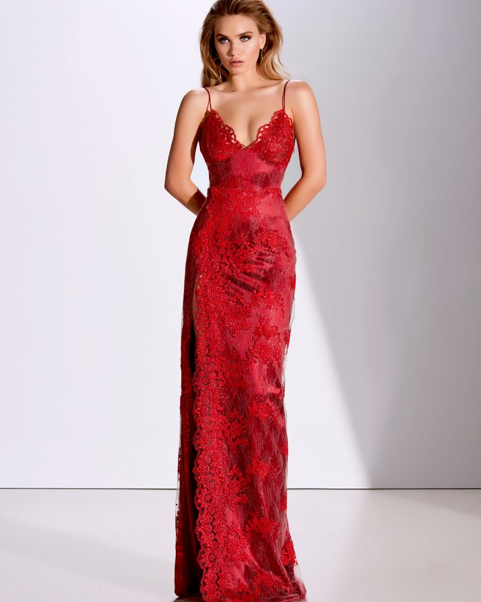 Fashion Abendkleider Lang Rot | Spitze Abendmoden Online