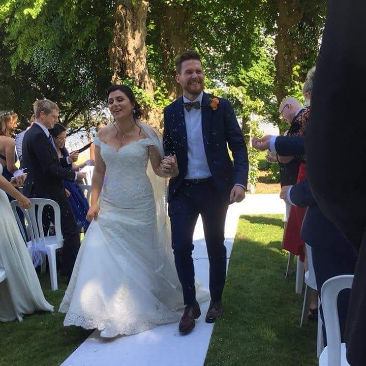 Elegante Brautkleider Meerjungfrau   Weiße Spitze Hochzeitskleider Online
