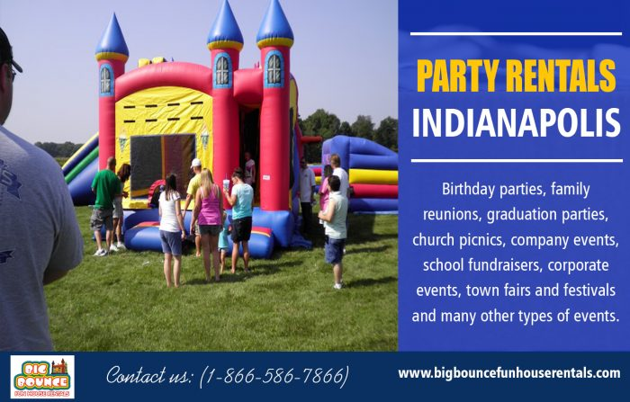 Party Rentals Indianapolis | Call – 1-866-586-7866 | bigbouncefunhouserentals.com