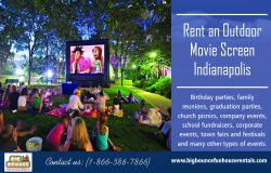 Rent an outdoor movie screen Indianapolis | Call – 1-866-586-7866 | bigbouncefunhouserenta ...