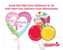 Send Get Well Soon Balloons in UK with Next Day Delivery from BloonAway