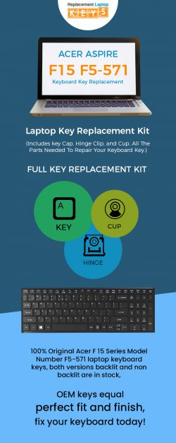 Shop Acer Aspire F5-571 Keyboard Keys from Replacement Laptop Keys