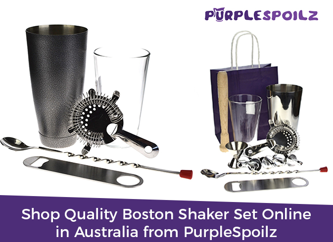 Shop Quality Boston Shaker Set Online in Australia from PurpleSpoilz