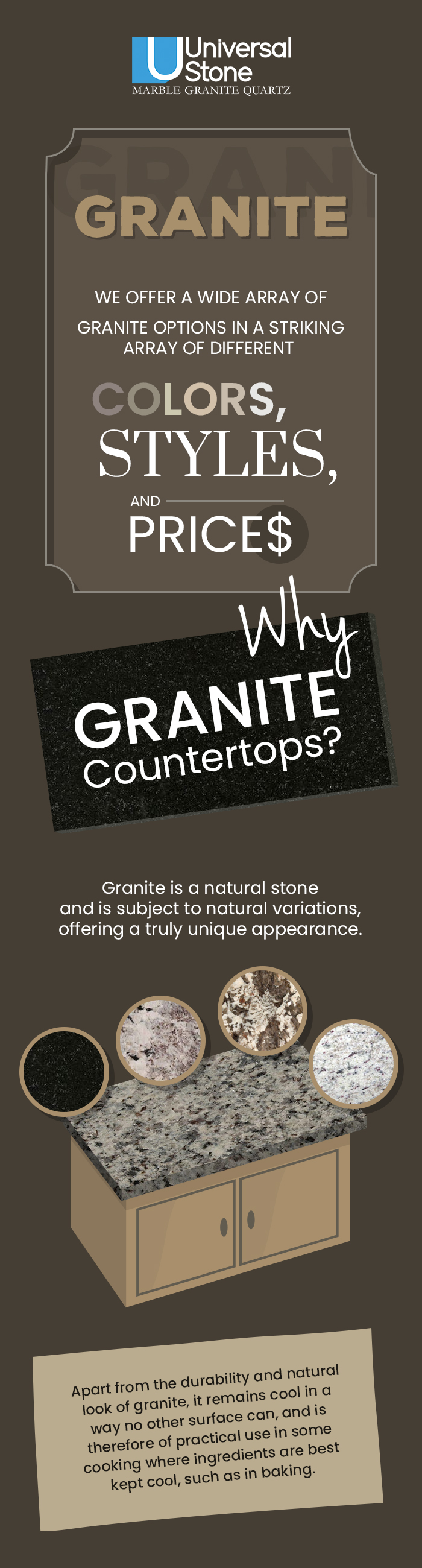 Shop the Best Quality Granite Countertops at Affordable Prices in Charlotte, NC from Universal Stone