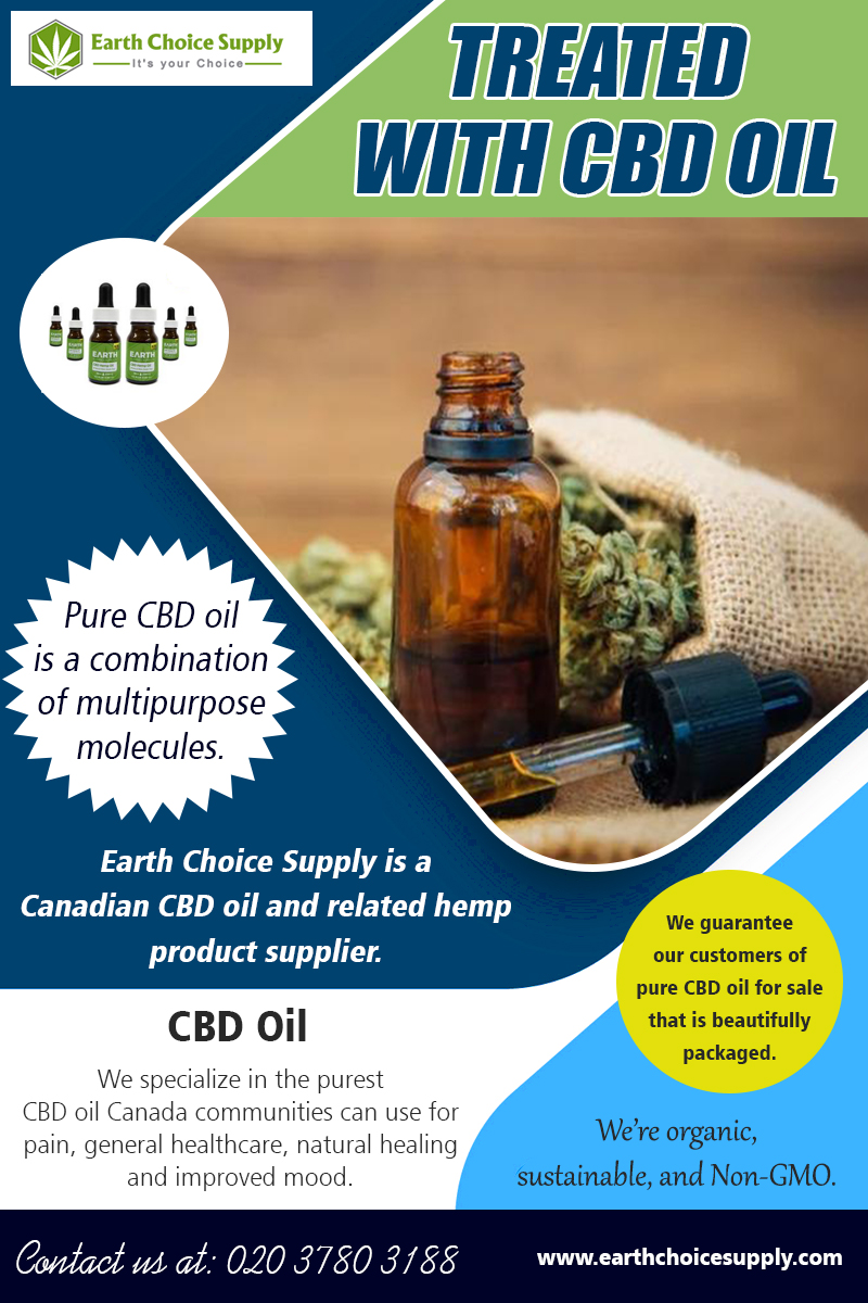 Treated with CBD Oil | Call – 416-922-7238 | earthchoicesupply.com